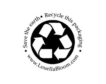 Custom Save the Earth Recycle this Packaging Rubber Stamp