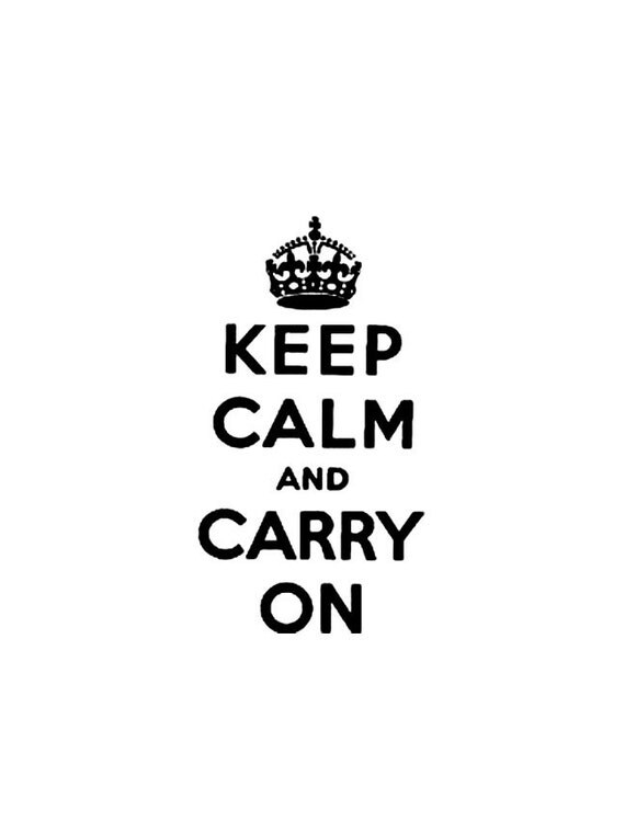 Large Keep Calm and Carry on Rubber Stamp