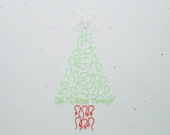 Christmas Mix: 48 Plastic French Earring Hooks, Green Clear & Red, for folks w metal allergies, Italian Flag Colors