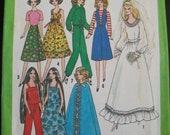 Vintage 1977 Mod Barbie Clothes Pattern Simplicity 8281 wedding cape warm up suit maxi dress