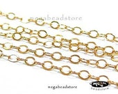 20 feet Dainty 14K Gold Filled BULK Loose Chain Oval Flat Cable Chain 2x1.5mm CH18
