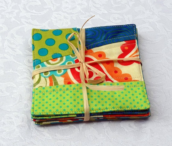 Quilted Modern Coasters - Summertime - Set of 5