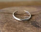 Sterling Silver Toe Ring- Skinny Shiny Half Round