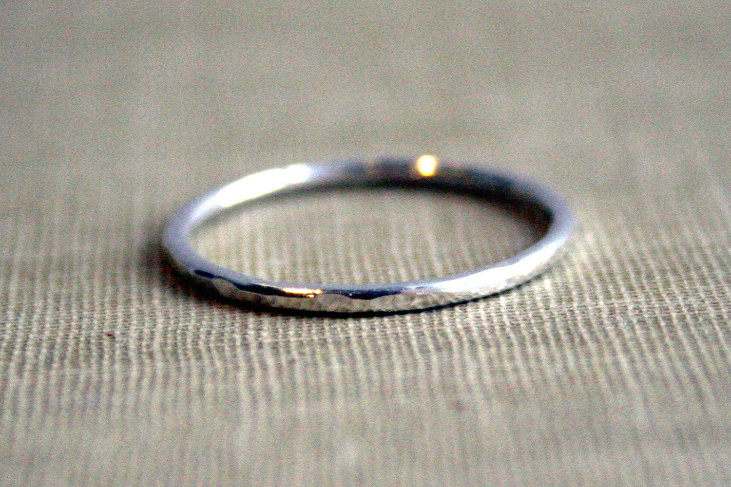 hammered sterling silver stacking ring by decadence2jewelry