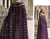 Ladies Crochet Cape Cloak  Vintage Pattern PDF Instant Download Bride Wedding Coat