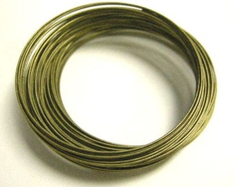 100 Circles Antique Bronze Stainless Steel Memory Wire 5cm-5880x2