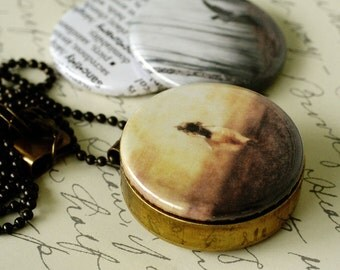 Sanctuary Brass Locket, Magnetic Interchangeable Necklace, by ThisYearsGirl and Polarity