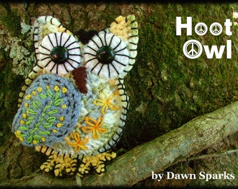 DOWNLOADABLE PDF PATTERN -  Buckster's Crocheted Hoot Owls