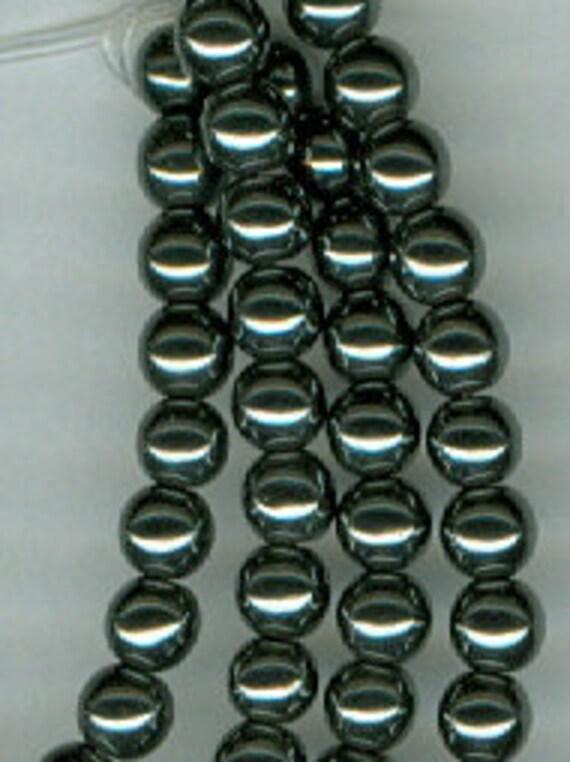 4mm Black Silver Hematite Round Gemstone Hematine Spacer Beads 15 in Strand