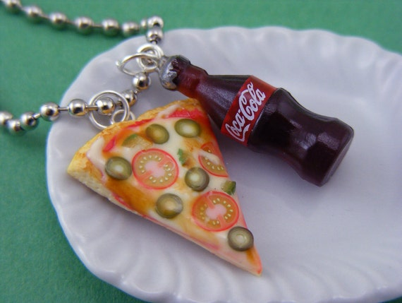 Pizza and Coke Necklace