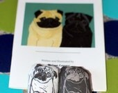 Pug Children's Book and Doll Set - Black and Fawn Pugs