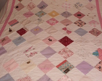 Baby clothes quilt custom made for Shannon