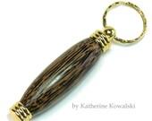 Wooden Needle Case/Toothpick Holder/Pill Box - Black Palm/24k Gold - (DAYSTAR) Katherine Kowalski woodturning