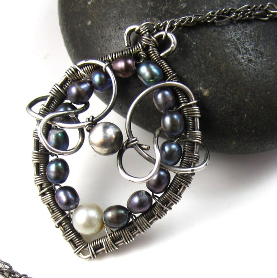 Wrapped Freshwater Pearl Necklace