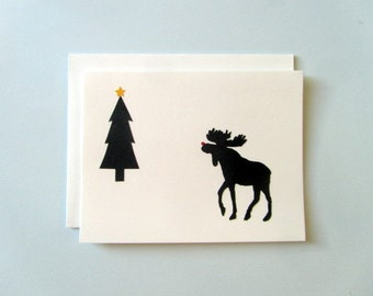 Seasons Greetings from Canada - papercut collage card