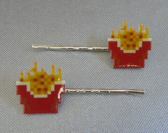 pixel frites - burgertime french fry bobbypins