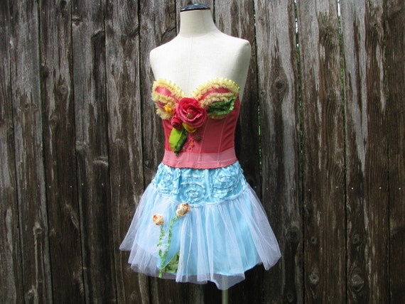 "Dream Bohemian Vintage Bustier Fairy Dress up Tu-tu ""Tea With Alice"""