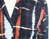 Vera Neumann Shirt - Tokyo Ink - a rare, vintage 1980's Blouse Top