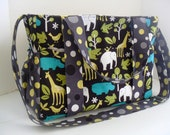Large Diaper bag Made of Zoology Fabric / Adjustable Strap / Ten Pockets