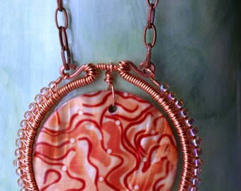 Chantal Wired Wrapped Copper Necklace