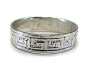 Sterling Silver Wedding Ring Greek Key Design