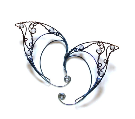 Hypoallergenic niobium elf ears with moonstone 2