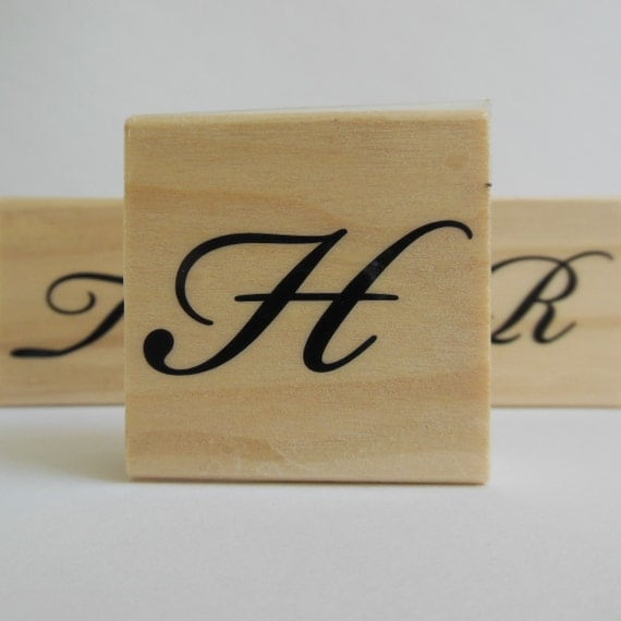 Letter H Stamp - Garden Canvas Collection