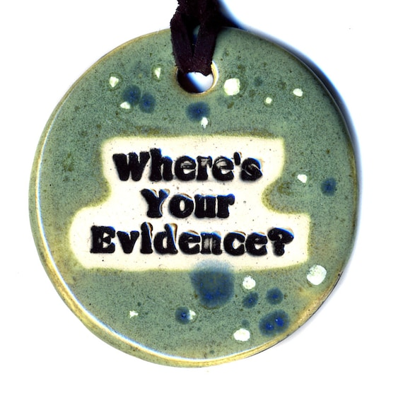 Where's Your Evidence Ceramic Necklace in Spotted Green