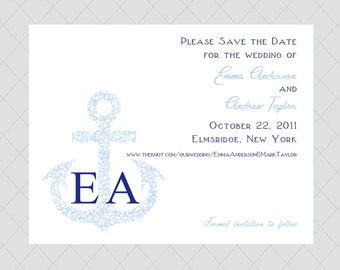 Anchor Save the Date Cards