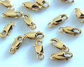 5 pcs - 14k Gold Filled Lobster Clasp  3 x 8mm