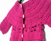 Instant download PDF crochet pattern - Mini Marguerite cardigan- Todler and girls sizes with daisy motif - Easy crochet