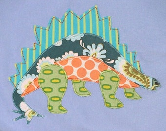 Personalized Baby Blanket in Color Sky with Stegasaurus, Baby Dinosaur, Dinosaur Baby Gift, Dinosaur Baby Blanket,Baby Gift,Baby Shower Gift