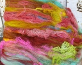 pinwheel batt - fiber art batt for spinning and felting