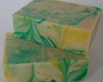 Lemon Eucalyptus Handmade Soap - JUMBO SIZED vegan bars made with pure essential oils and coconut milk