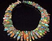 Rainbow Sea Sediment Jasper with Chalcopyrite 60 Piece Pendant Set