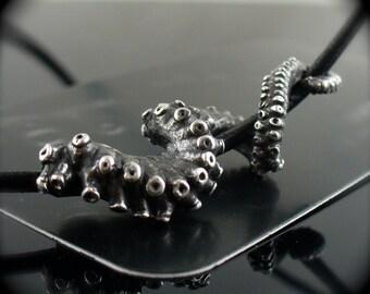 SALE - Unisex Leather Tentacle necklace