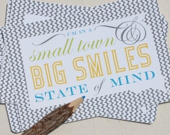 Postcard Set - South Dakota Postcards State of Mind - by Oh Geez Design