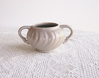 Sugar Bowl Fransiscan Swirl Coronado Grey Pottery Dining Serving