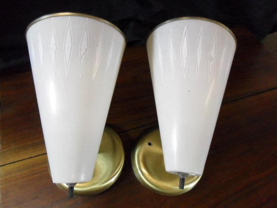 Pair of Retro Mid Century Lights