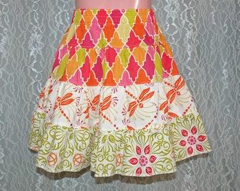 size: 5T - GRAND BAZAAR Tiered Skirt - Boutique Girls Skirt - Ooak