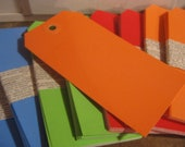 Orange hang tags, set of 10