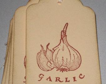 8 Garlic Gift Tags