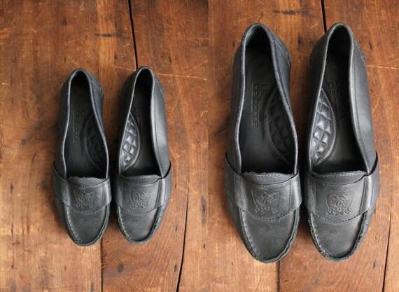 final sale - vintage Liz Claiborne leather prep loafers / size 7