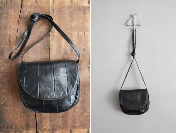 vintage petite italian leather satchel