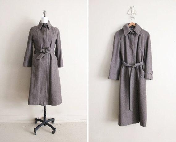 wool trench coat / vintage wool coat