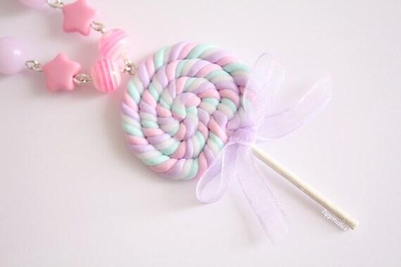 Pastel Lollipop Necklace