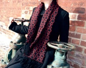 Save 50%- Key knit scarf- Deep red and black