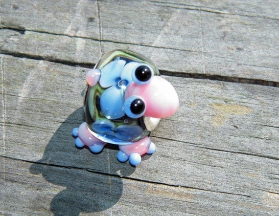 Samantha Beads , Lampwork Turtle - Lined - Fits BHB's - Pandora etc. Reserved for Wendy