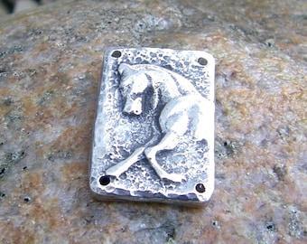 Sculptural Horse Bracelet Link, Rustic Horse Jewelry