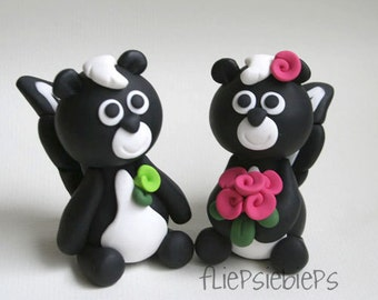 Custom Skunk Wedding Cake Topper